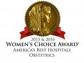 For the second year in a row, St. Peter's Hospital has received a Women's Choice Award as one of America's Best Hospitals for Obstetrics and Heart Care.