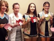 "A pair of area Girl Scouts, Jordan Foster and Hannah Strouse, created the ""Helpful Hearts Program"" to help families feel more connected to their new babies in the St. Peter's Hospital neonatal intensive care unit."