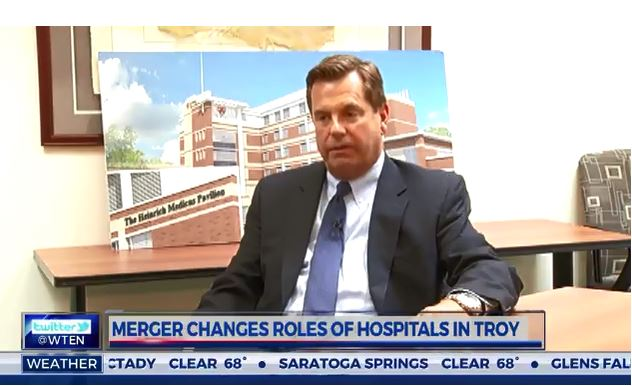 News 10: Merger Changes Roles of Hospitals in Troy - St  Peter's