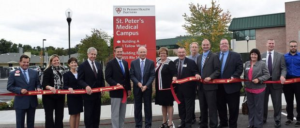 The Daily Gazette published this article about a ceremony held Tuesday to celebrate the latest project from St. Peter's Health Partners, the newly expanded St. Peter's Medical Campus in Clifton Park.