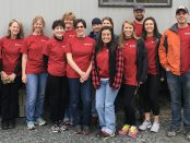 A group of colleagues from St. Peter's Hospital spent Saturday volunteering in Albany's Arbor Hill neighborhood, joining a Habitat for Humanity project to build or rehabilitate nearly 60 houses on Orange Street and Lark Street.