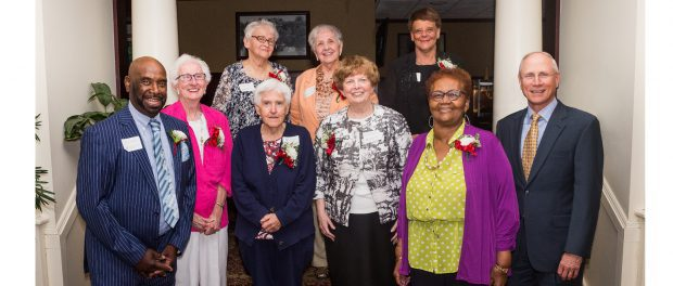 Eleven employees from across St. Peter's Health Partners have been with the network and its legacy organizations for more than 50 years. A celebration on May 23 recognized these members of the