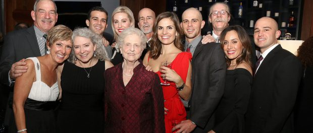 """Revelers pose for a photo at the St. Peter's Hospital Foundation's 2016 """"Holiday Kickoff"""" fundraiser."""