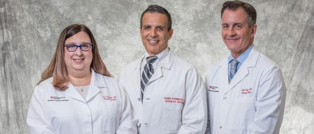 Experienced surgeons and longtime colleagues Kathleen J. Ozsvath, M.D., Yaron Sternbach, M.D., and John Taggert, M.D., have joined St. Peter's Health Partners Medical Associates (SPHPMA). Their new medical practice, St. Peter's Vascular Associates, is seeing patients in three convenient locations in the Capital Region.