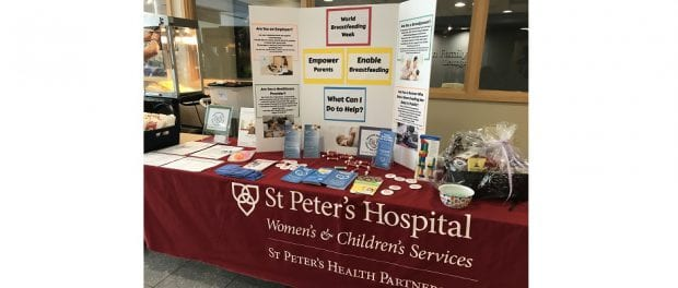 World Breastfeeding Week at St. Peter's Hospital