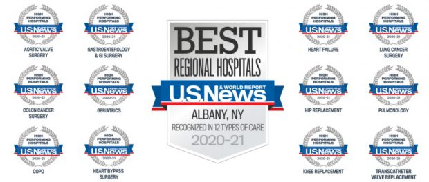 St Peter S Hospital Ranked Best In The Capital Region St Peter S Health Partners News